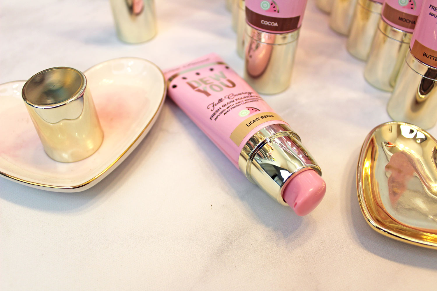 Too Faced Dew You cruelty free and vegan foundation review and swatches