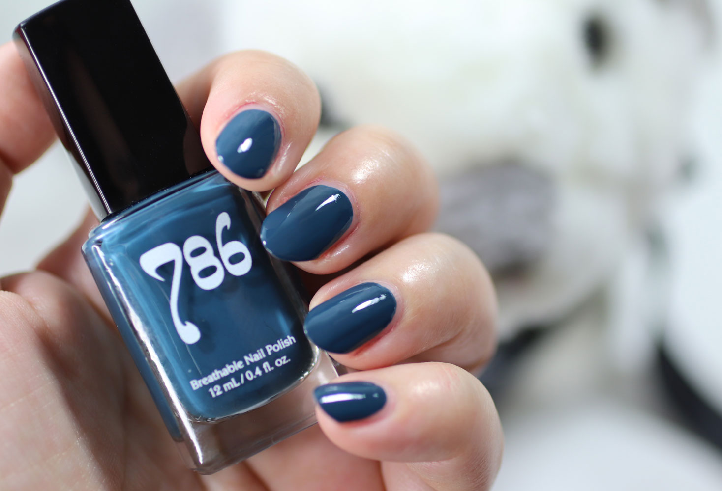 786 Cosmetics Breathable Cruelty Free and Vegan Nail Polish Swatch - Chefchaouen