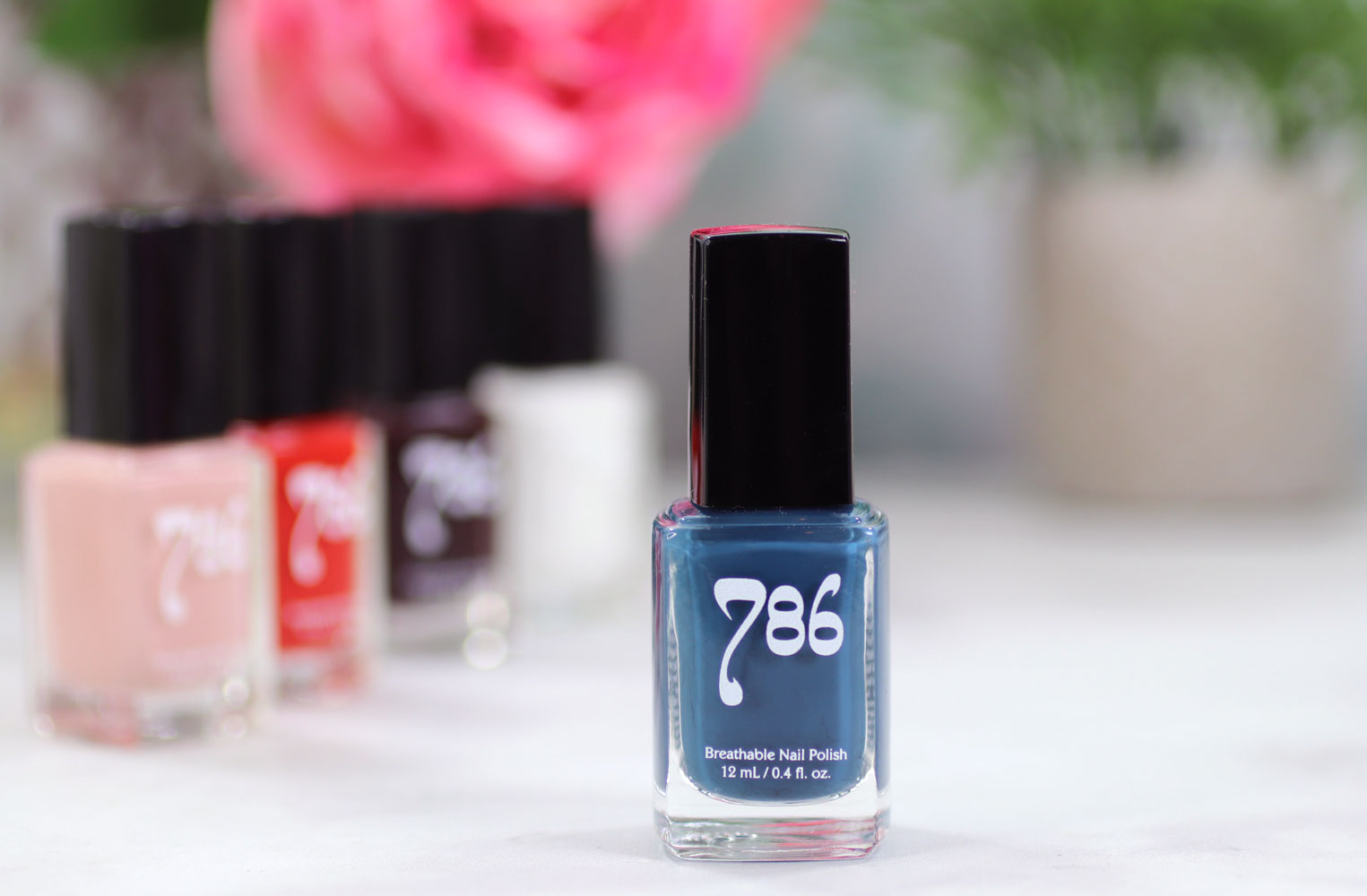 786 Cosmetics Breathable Cruelty Free and Vegan Nail Polish Review and Swatches - Chefchaouen