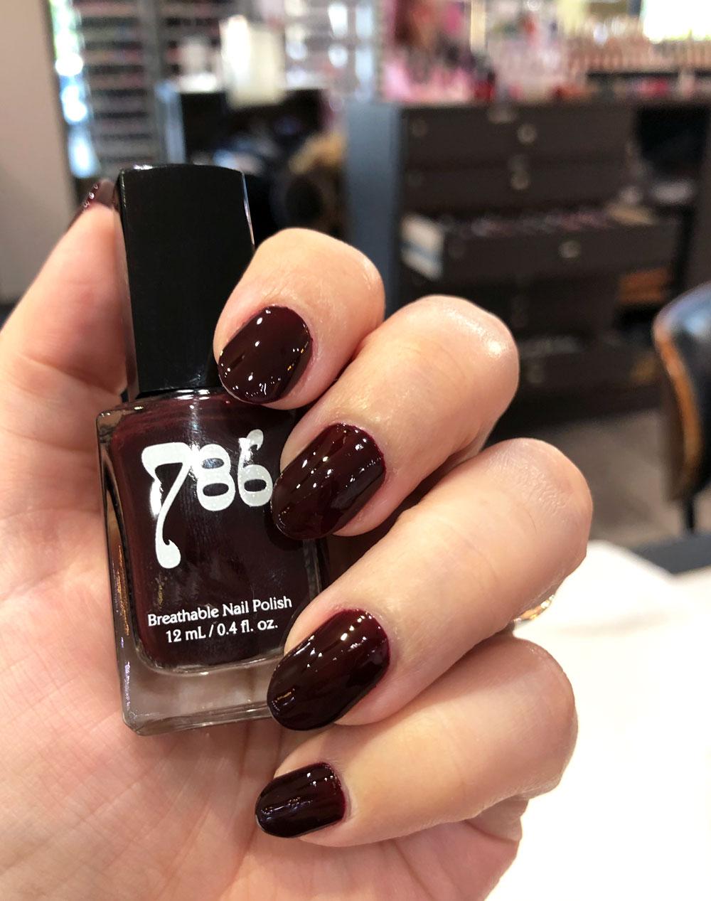 786 halal vegan cruelty free nail polish - dark burgundy Istanbul