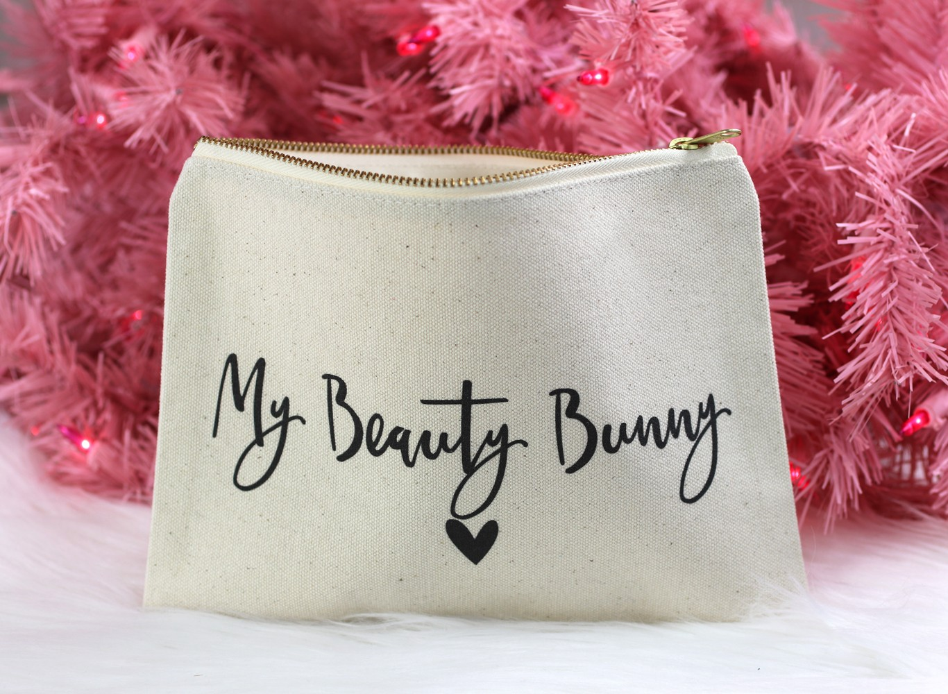 Cotton Canvas and Co personalized makeup bag