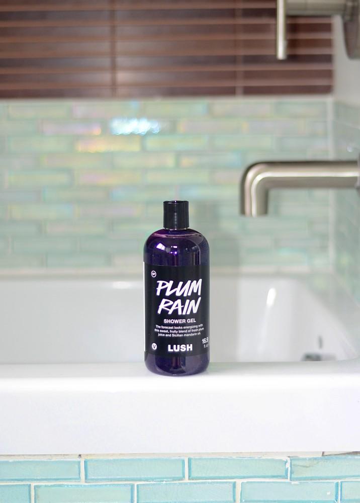 lush plum rain shower gel