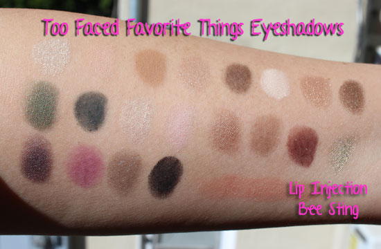 Too Faced Favorite Things Swatches
