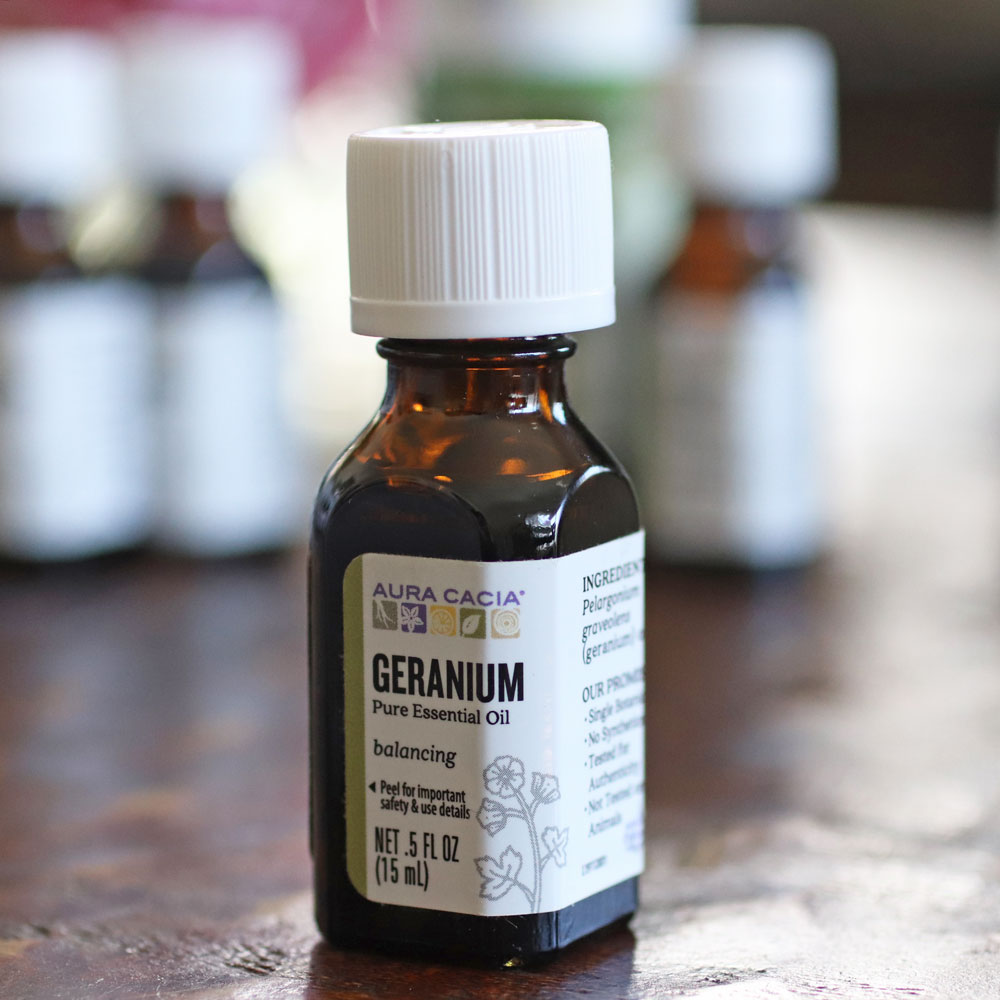 Geranium essential oil for acne and acne scars