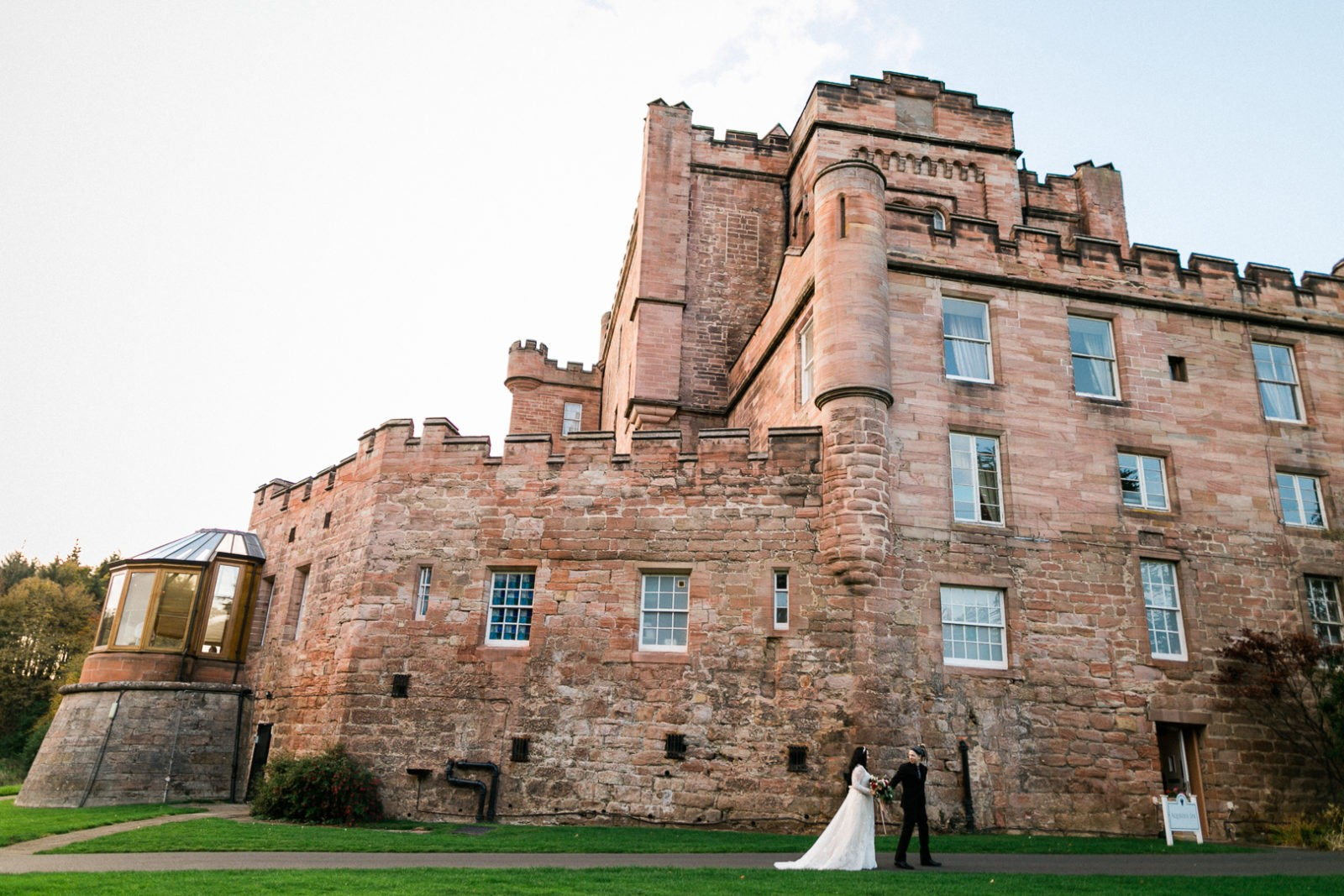 Wedding at Dalhousie Castle - Jen Mathews My Beauty Bunny Wedding in Scotland- Hair and Makeup by AMM Team - Photography by Lauren McGlynn