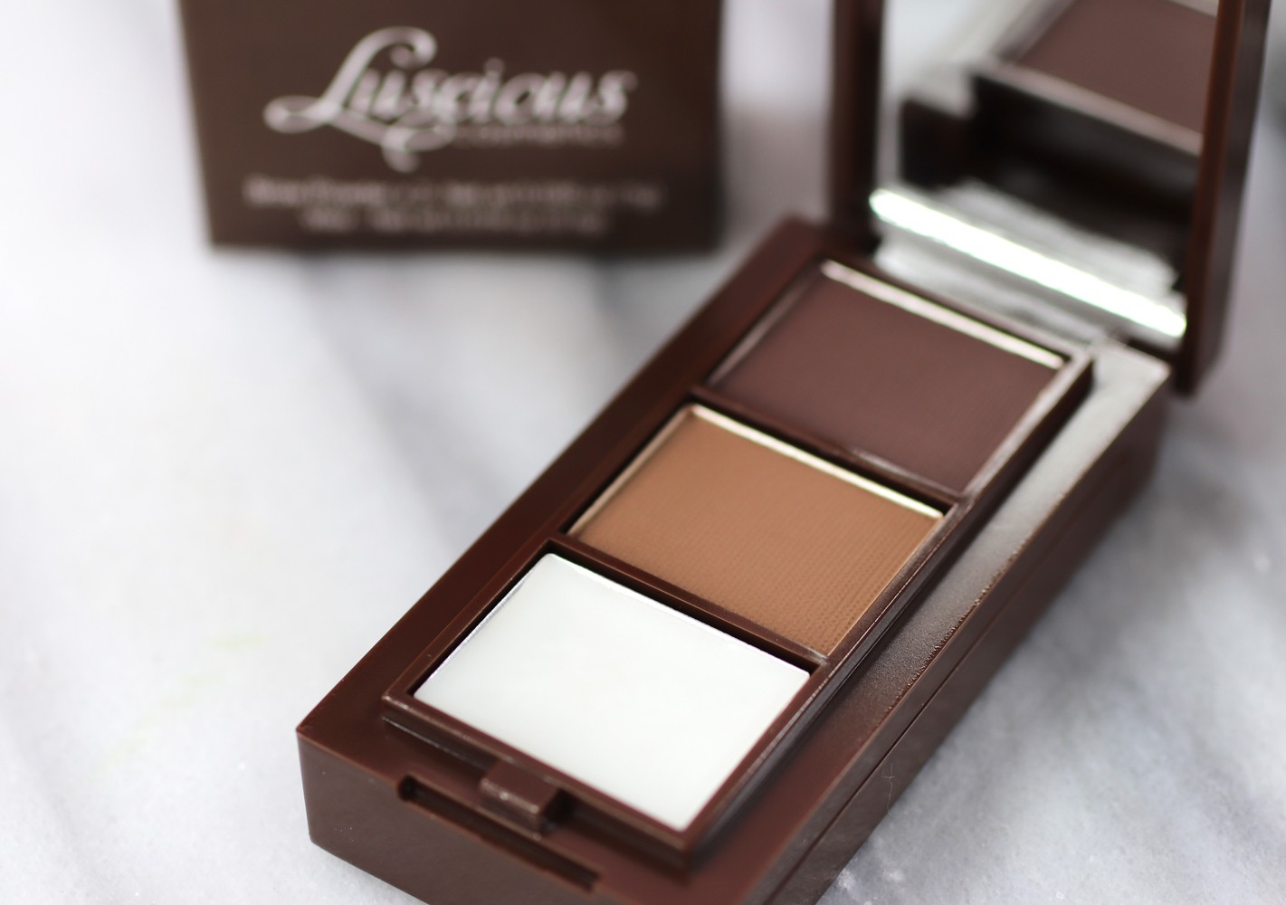 Luscious Cosmetics Brow Luxe Tool Kit - Luscious Cosmetics Review and Try On by popular LA cruelty free beauty blogger My Beauty Bunny