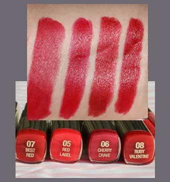 Milani Blue Based Red Lipsticks