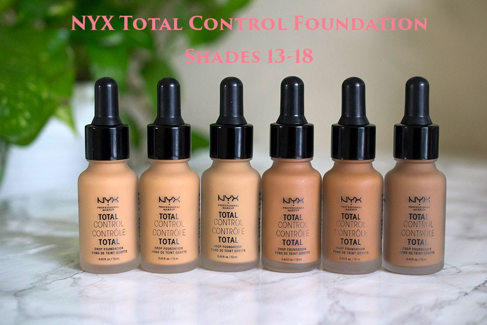 NYX Total Control Foundation Shades 13-18