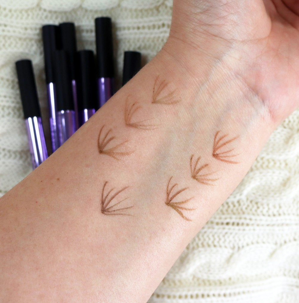 Urban Decay Brow Blade Swatches