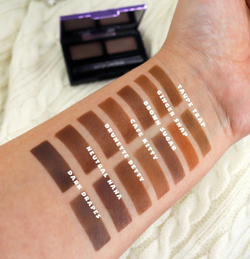 Urban Decay Street Style Double Down Brow Products Swatches