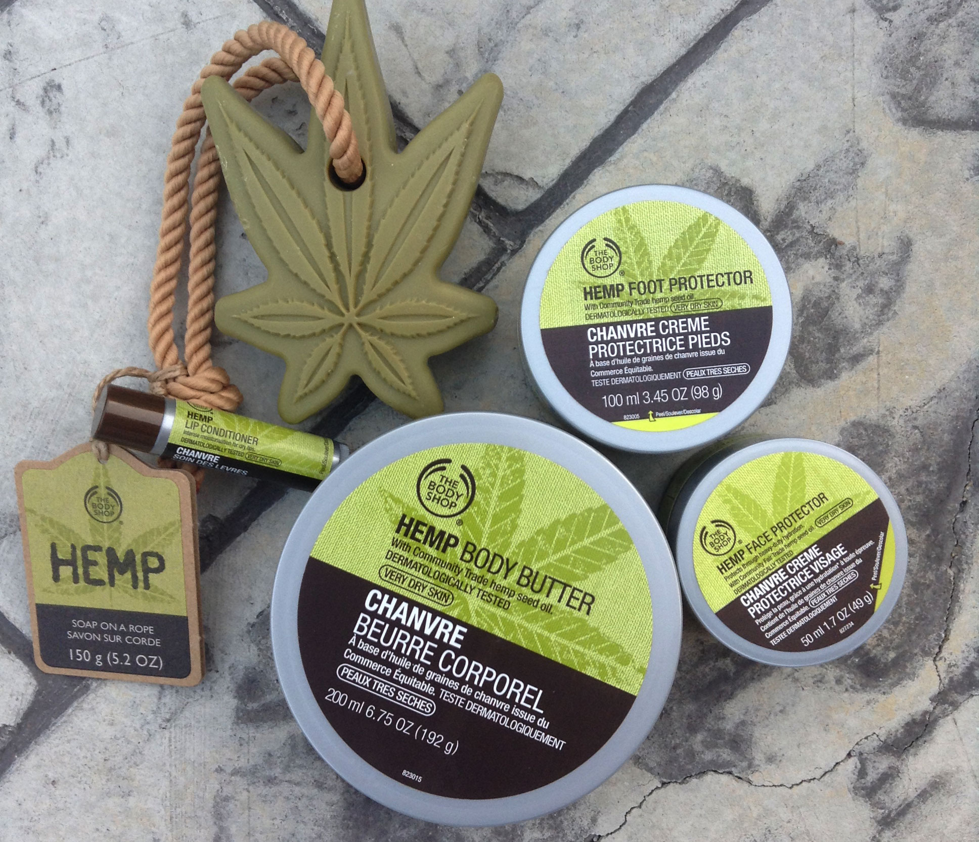The Body Shop Hemp Bodycare Collection