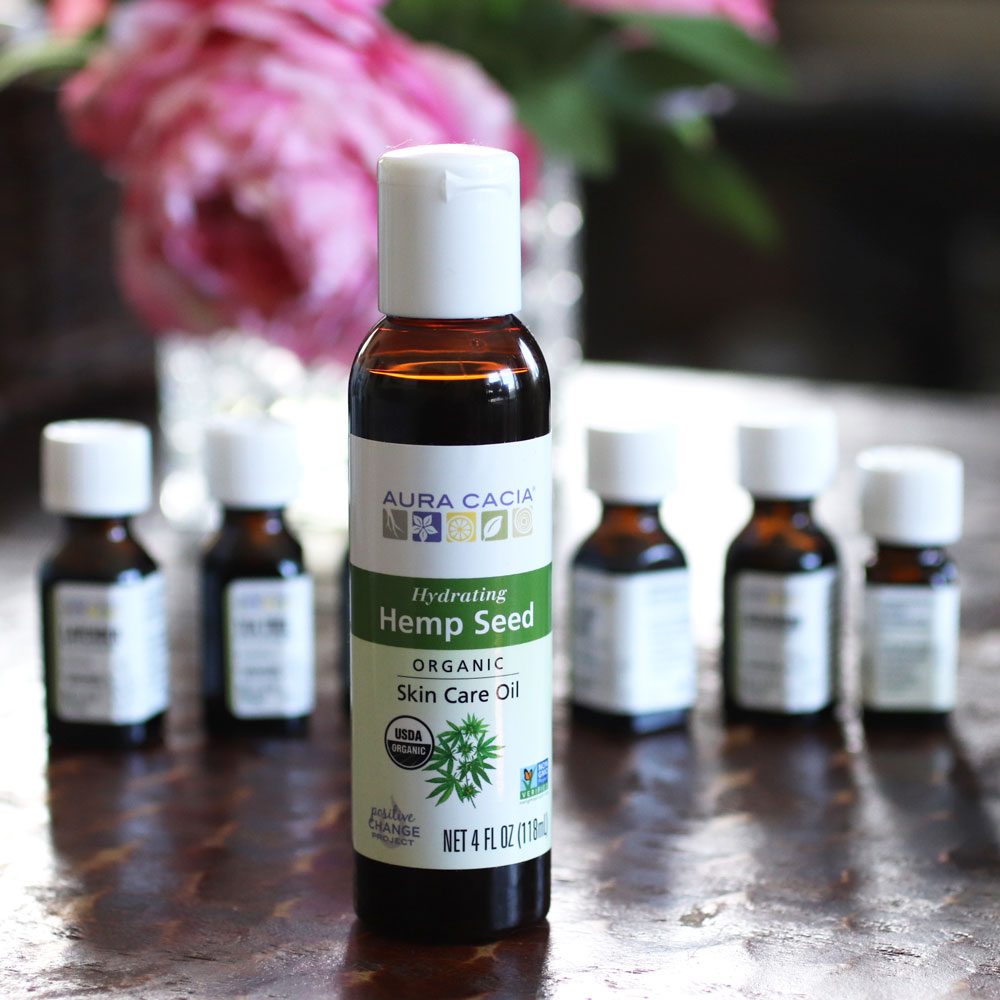 Aura Cacia hemp seed oil from iHerb - for acne and oily skin