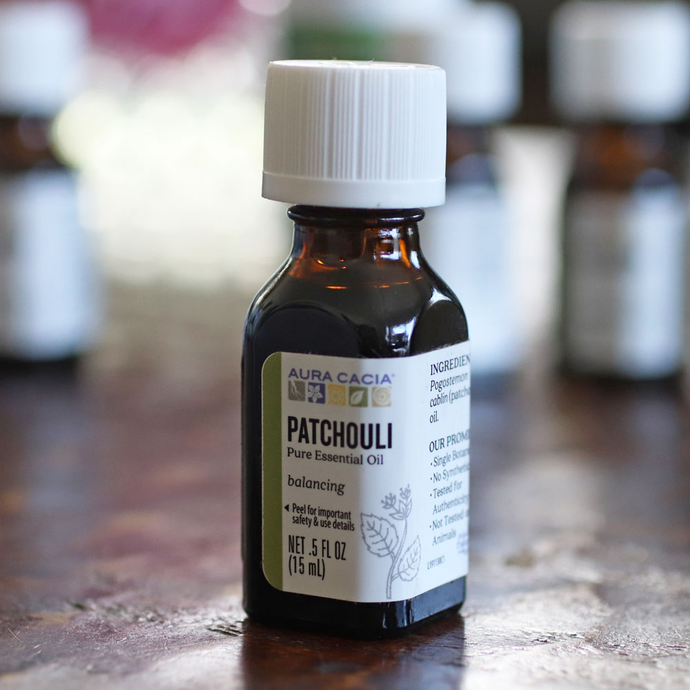 Patchouli essential oil for acne and acne scars