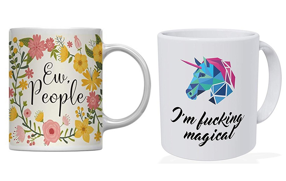 Ew People and I'm F*cking Magical Sarcastic Mug Anti Valentines Day Gift Ideas